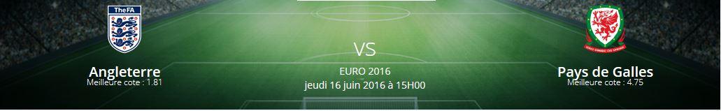 Le match Angleterre-Pays de Galles est l'un des matches les plus attendus dans le groupe B de l'Euro 2016